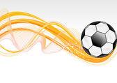抽象的なサッカー波背景 — ストックベクタ