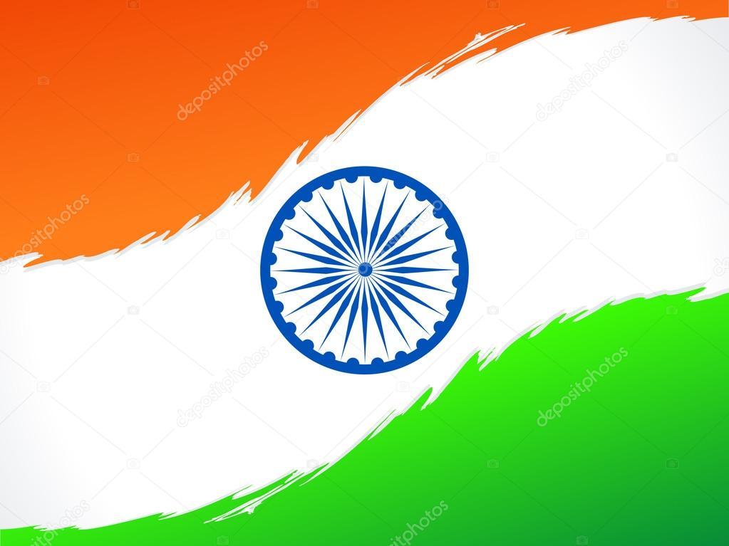 抽象的印度国旗矢量图