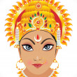 Abstract goddess durga face — Stock Vector