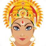 Abstract goddess durga face — Stock Vector