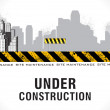 Abstract under construction background - Stock Vector