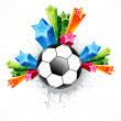 Abstract football explode — Stock Vector #23132536
