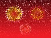 Abstract night sky explode firework — Stock Vector