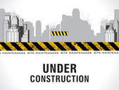 Abstract under construction background — Stock Vector