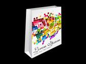 Saco de compra abstrato arco-íris — Vetorial Stock