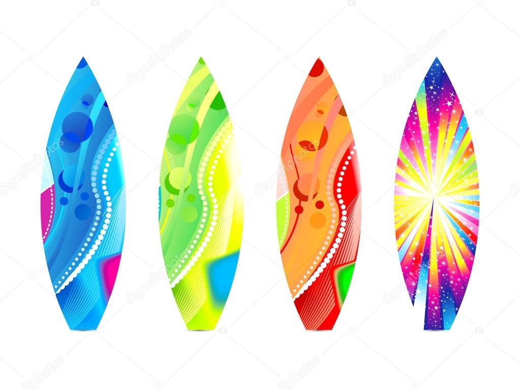Plantilla de tabla surf colorido abstractos vector de - Dibujos para tablas de surf ...