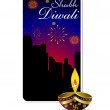Abstract diwali background template — Stock Vector #23868495