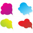 Abstract multiple chat balloons — Stock Vector