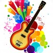 Royalty-Free Stock Vektorgrafik: Abstract colorful guitar background