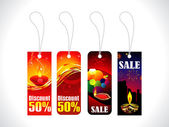 Abstract diwali sale tag template — Stock Vector