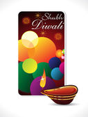 Abstract diwali background template — Stock Vector
