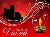 Fondo de pantalla de abstractos diwali — Vector de stock