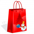 Abstract christmas sale bag - Stock Vector