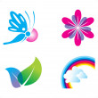 Abstract spring icon template - Stock Vector