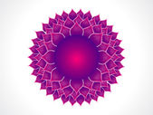 Detailed crown chakra — Stock Vector