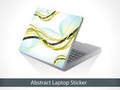 Abstracte golf gebaseerd laptop sticker — Stockvector