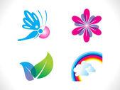 абстрактный весна шаблон иконы — Cтоковый вектор
