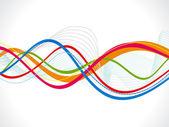 抽象多彩波背景 — 图库矢量图片