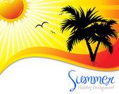 Soyut yaz tatili arka plan — Stok Vektör