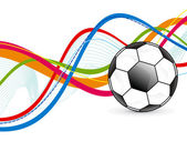 Abstract colorful football background — Stock Vector