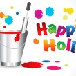 Abstract happy holi background - Stock Vector