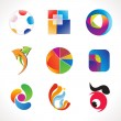 Abstract multiple colorful logo template — Stock Vector