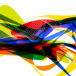 Abstract colorful rainbow background - Stock Photo