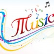 Abstract colorful music text background - Stock Photo