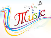 Abstract colorful music text background — Stock Photo