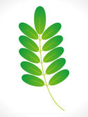 Abstract eco green leaf icon — Stock Vector