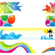 Abstract multiple colorful banners background — Stock Vector