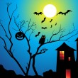 Vector de stock : Abstract halloween wallpaper