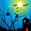 Stock vektor: Abstract halloween wallpaper