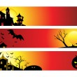 Abstract halloween web banners — Stockvectorbeeld