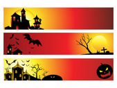 Abstract halloween web banners — Stock Vector