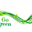 Abstract go green background — Stock Vector