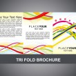 Stock Vector: Abstract tri fold brochure template