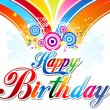 Abstract colorful happy birthday background — Vecteur #34074169