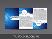 Abstract tri fold brochure template — Stock Vector