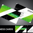 Abstract green business card template — Imagens vectoriais em stock