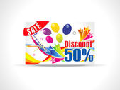 Abstract fifty percent discount card — Stock Vector