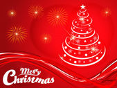 Abstract christmas tree background — Vecteur