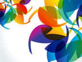 Abstract colorful rainbow background — 图库矢量图片