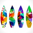 Abstract colorful surf board — Stok Vektör