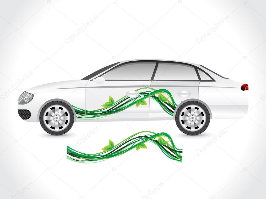 Car sticker design download - Abstract Sedan Car Sticker Vector Illustration Vector By Rioillustrator