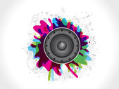 Abstract sound explode — Stock Vector