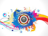 Abstract colorful media explode — Vector de stock