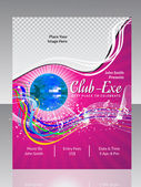 Abstract disco club flyer — Vector de stock