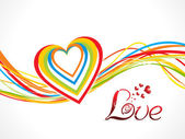 Abstract colorful love wave background — 图库矢量图片