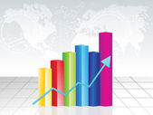 Abstract colorful business chart background — Stockvector